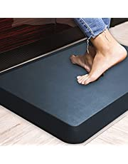 "1"" Extra Thick Anti Fatigue Floor Mat,Kitchen Mat, Standing Desk Mat – Comfort at Home, Office, Garage - Advanced PU Foam - NOT PVC!!!, 30x20 inches (Black),"