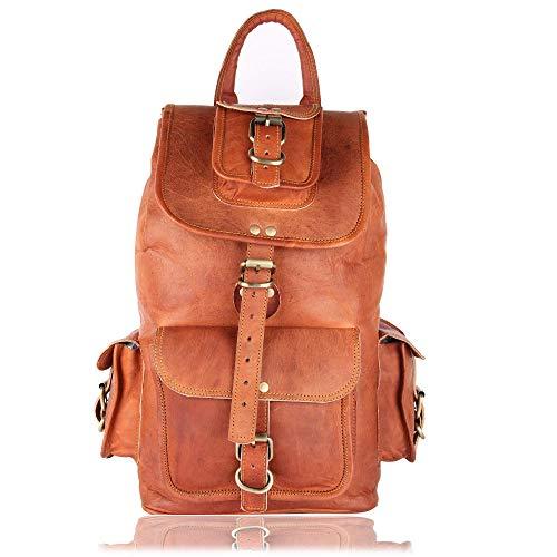 Leather Native 16' Genuine Leather Retro Rucksack...