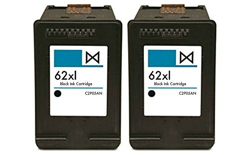 HouseOfToners Remanufactured Ink Cartridge Replacements for HP 62XL C2P05AN (2 Black, 2-Pack)