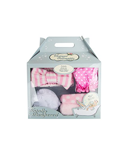 The Vintage Cosmetic Company Totally Pampered - Bath Accessories (4 Piece Kit) - Bath Accessories Vintage