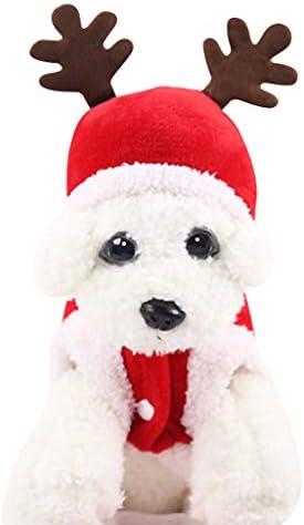 DSDecor - Disfraz de Papá Noel para perros de Navidad, ropa de invierno para perros pequeños 8