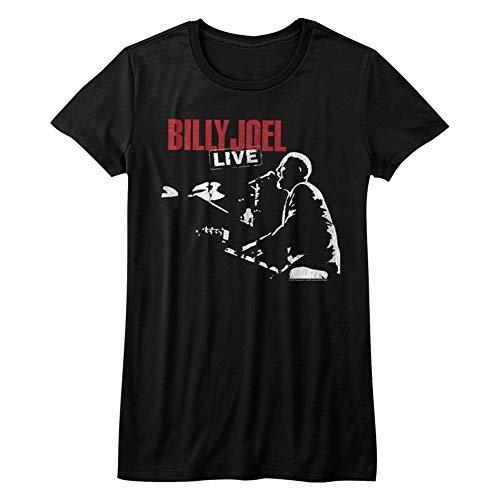 (American Classics Billy Joel Music 81 Tour Juniors Short Sleeve T Shirt XL Black)