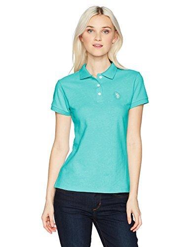 US Polo Assn Womens Short Sleeve Solid Pique Polo Shirt