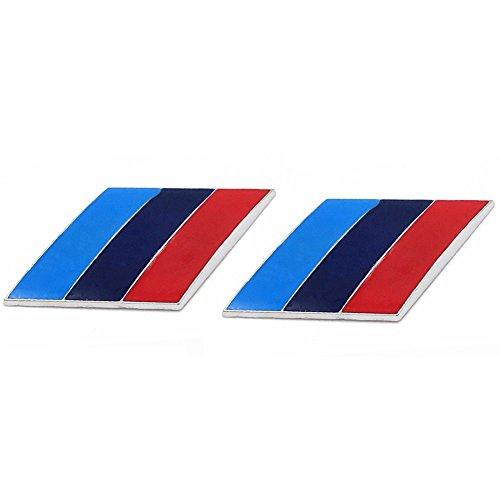 (Dsycar 2Pcs/Pair 3D Metal Tricolor Car Body Side Fender Rear Trunk Emblem Badge for ALL Models BMW E30 E36 E46 E34 E39 E60 E65 E38 X3 X5 X6 3 4 5 6 7 8)
