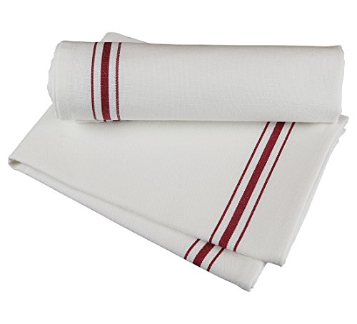 - RC ROYAL CREST by Sigmatex - Lanier Textiles NK182632BRD Bistro 100% Cotton Stripe Cloth Napkins, Restaurant Quality, Large Size 18