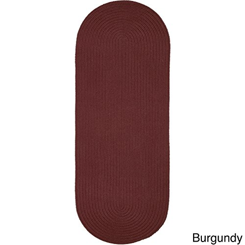 Rhody Rug Madeira Indoor/Outdoor Oval Braided Runner Rug (2' x 6') - 2' x 6' Burgundy from Rhody Rug