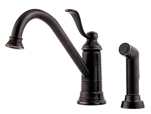 (Pfister LG344PY0 Portland 1-Handle Kitchen Faucet with Side Spray in Tuscan Bronze, Water-Efficient Model)