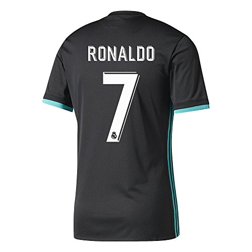 7 Ronaldo Real Madrid Home Kid Soccer Jersey   Matching Shorts Set (2018  Black 00b19c391c6ac