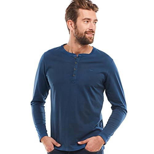 engbers Herren Henley Shirt, 24835, Blau