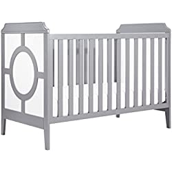 DaVinci Poppy Regency 3-in-1 Convertible Crib, White and Grey