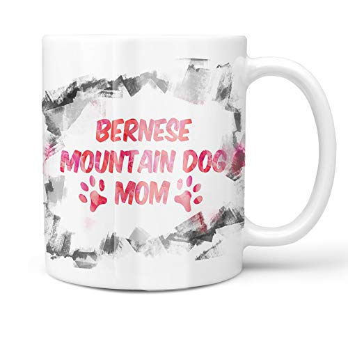 Neonblond 11oz Coffee Mug Dog & Cat Mom Bernese Mountain Dog with your Custom Name