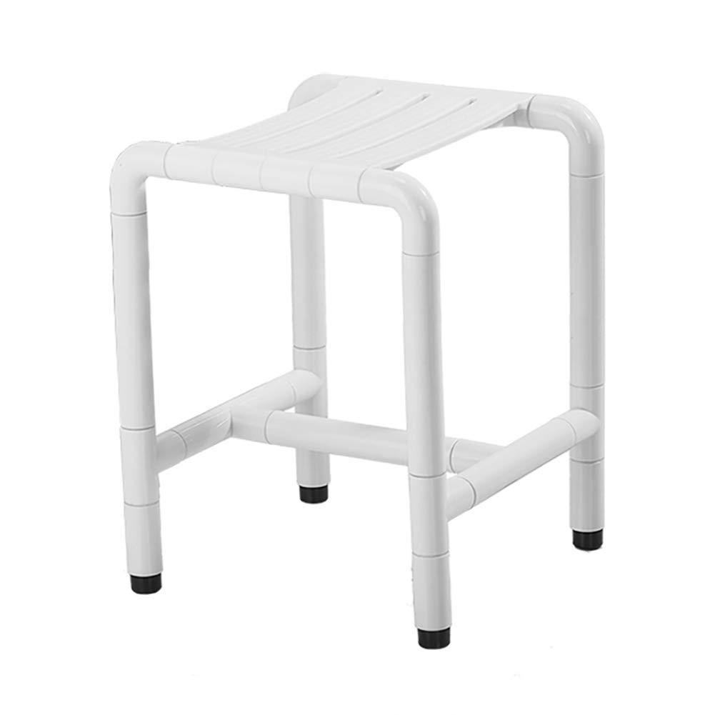 LFF- 安全なバスルームのシャワーチェアシートベンチツールフリーアンチスリップベンチバスタブスツールシート (色 : 白) B07GBN2G28 白 白
