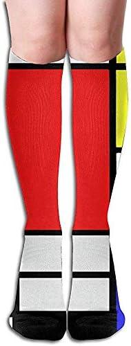 Vince Camu Mondrian Art grappige teamsokken sport antislip boots sokken type en wijze kousen 50 cm