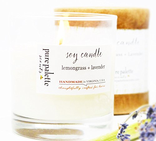 Lemongrass Lavender Spa Soy Candle Handmade in Virginia, U.S.A