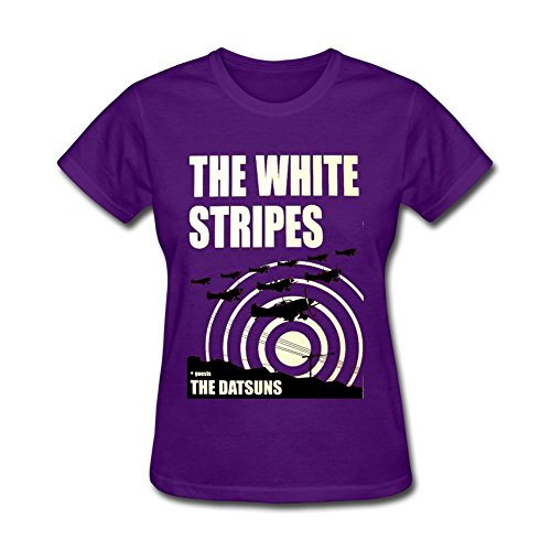 Dotion Women's The White Stripes Band Design T Shirt