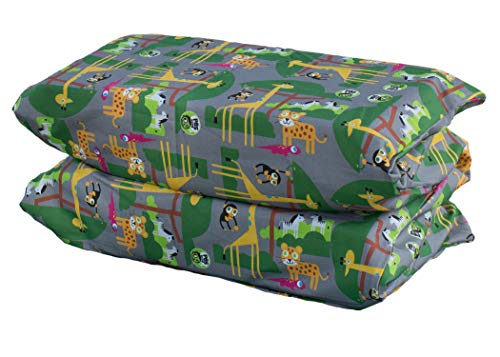 KinderMat PBS Kids Cover, Pillowcase Style Full Sheet, Fits Rest Mats Roughly 19 x 45 Inches, Regular, Safari Party, Gray