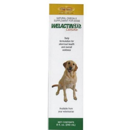 WELACTIN Natural Omega -3 Supplement for Dogs - 8 Ounce