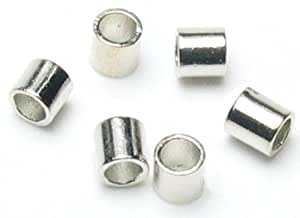 Cousin Jewelry Basics 500 Piece Crimp Tube, Silver, 2mm