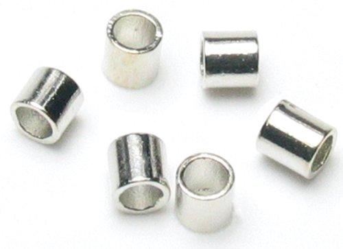 Cousin Jewelry Basics 500-Piece Crimp Tube, Silver, 2mm (Crimp Tubes Silver)
