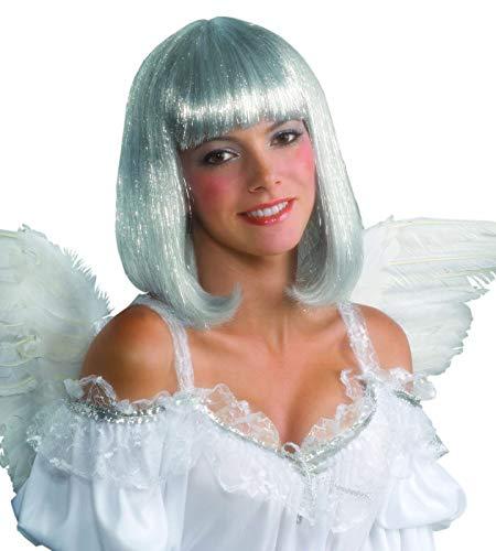 Angel Shimmer Wig - Forum Angel Adult Silver Shimmer Wig