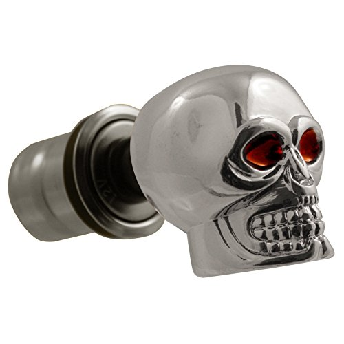 Chrome Skull Top Automobile 12 Volts Cigarette Lighter Plug (Camaro Cigarette Lighter)