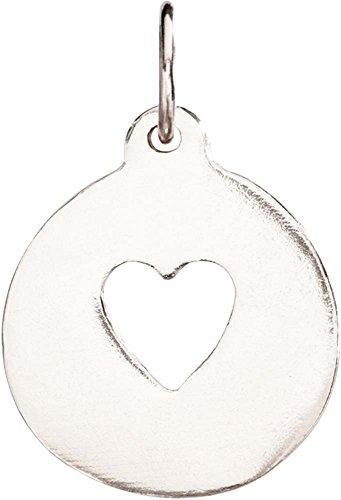 Helen Ficalora Heart Cutout Charm White Gold