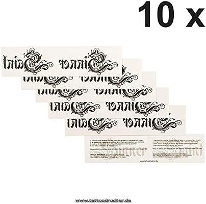 Sinner y Santa – letras – temporal tatuaje falso en negro: Amazon ...