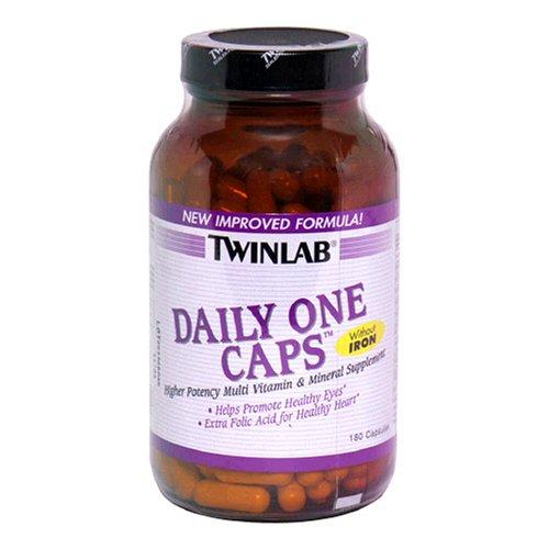Twinlab Daily One Caps multi-vitamines et multi-minéraux sans fer, 180 capsules