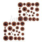 FidgetGear 2 Sets Orange Leather Alto Saxophone Pads for Yamaha Orange Sax Part replacement