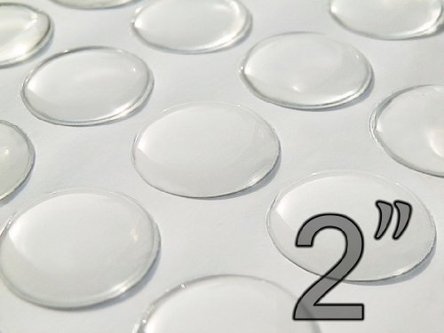 FREE SHIPPING Circle Domes Dots Seals 76mm Round Clear Epoxy Stickers
