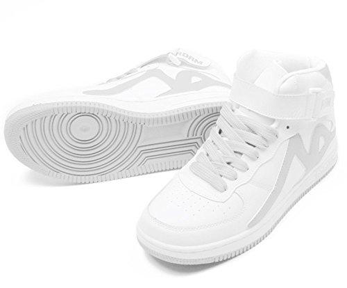 Para Hombre Zapatillas REDRUM Piel de blanco blanco qW1TTg4fP