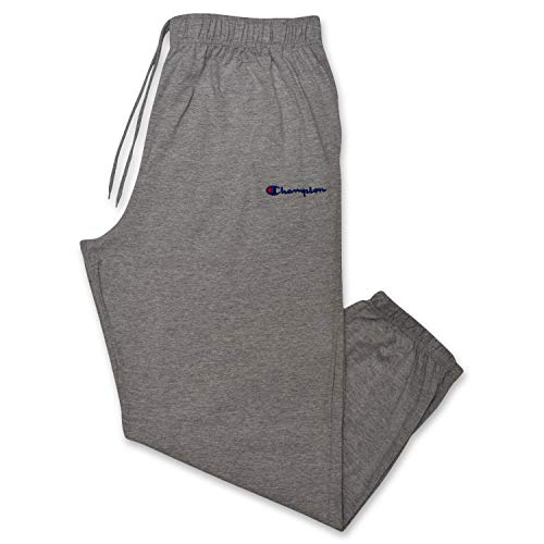 - Champion Mens Big and Tall Logo Lounge Workout Sweatpant Heather Grey XLT