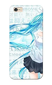 Crooningrose Faddish Phone Vocaloid Hatsune Miku Text Blue Eyes Skirts Twier Blue Hair Twintails Blush Shirts Cellphones Anime Girls Case For Iphone 6 Plus / Perfect Case Cover