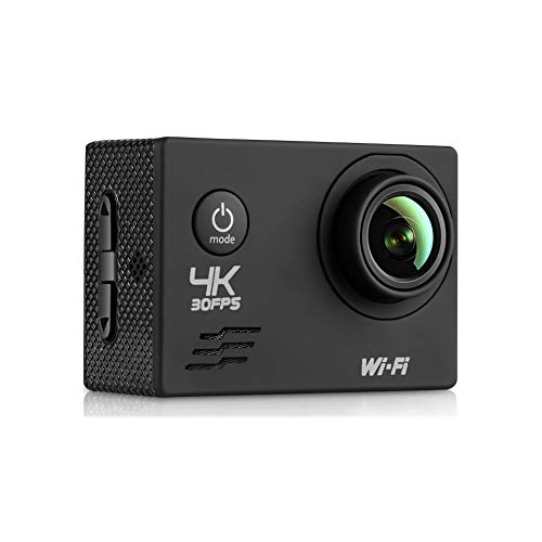 WIFI Action Sport Digital Mini Camera - Waterproof HD, Full HD 1080P 2.0 Inch LCD Display 120 Degree Wide Angle Lens Sport Recorder Car Camera with Outdoor Accessories Enji Prime