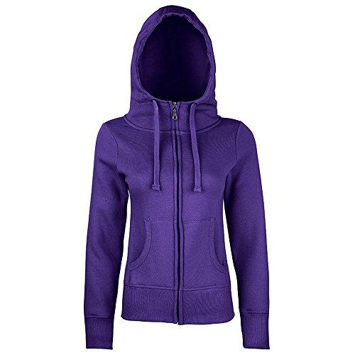 Sonar Womens Roxy zip-thru hoodie Ultra Violet XL (Thru Sweatshirt Zip Hooded)