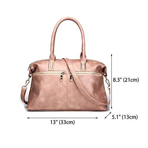 clutches Shoppers bandolera de Rosa y Mujer y Carteras bolsos Bolsos mano de hombro PRqnWT1