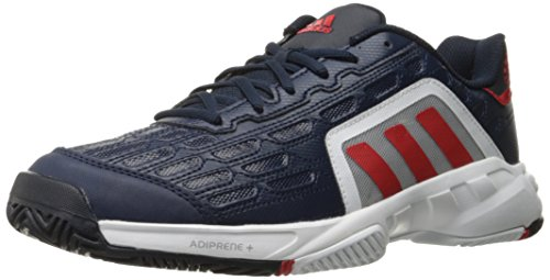 new product 893b5 de823 adidas Performance Men s Barricade Court 2 Tennis Shoe, Collegiate Navy Vivid  Red White