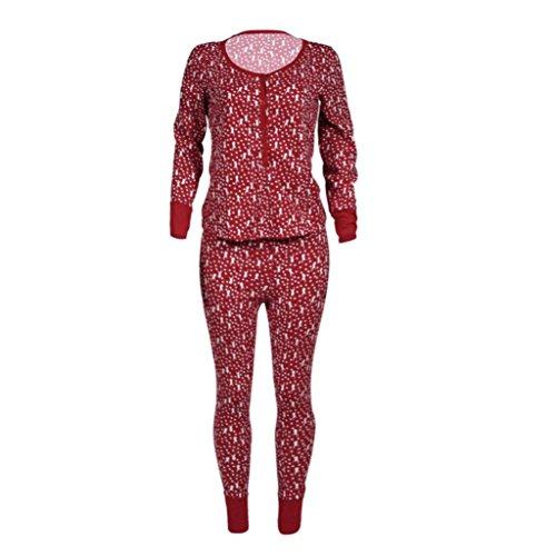 Jamicy Donne natale pigiama manica lunga set Natale cervo stampa indumenti da notte top e pantaloni set