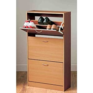 3 Drawer Shoe Cabinet for up to 18 Pairs - OAK finish: Amazon.co ...