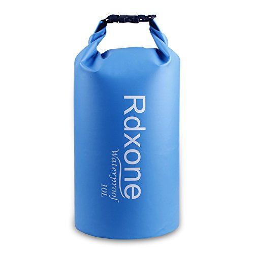 Dry Bag, Rdxone Waterproof Bag with Super Lightweight and Long Adjustable Shoulder Strap, Perfect for Kayaking, Beach, Rafting, Boating, Hiking, Camping, Fishing, and Other Outdoor Activities (10L)