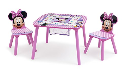 Delta Disney Minnie Mouse Storage Table and Chairs Set