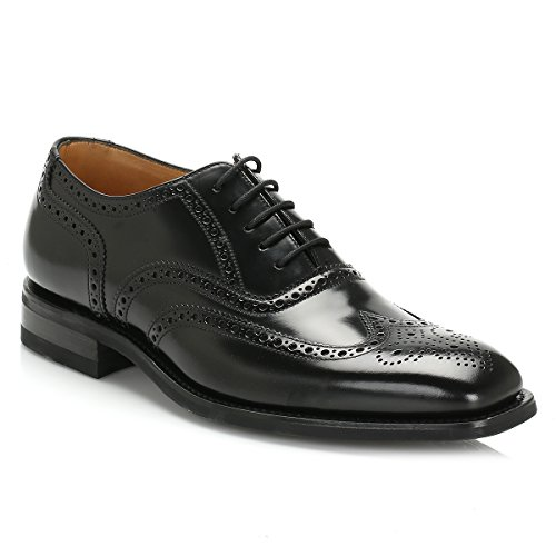 Loake Hommes Noir 262B Legend Polished Cuir Brogue Chaussures