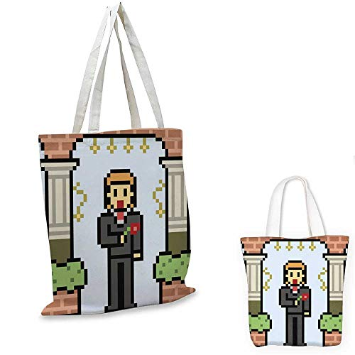- shopping bag storage pouch vector pixel art groom