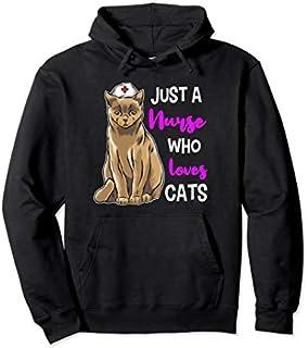 Nurse Cat  Cat Lover Nursing Nurses Cat Gift Pullover Hoodie T-shirt | Size S - 5XL