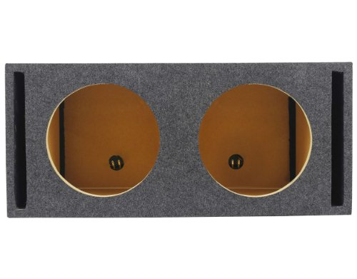 """Rockville RDV12M Dual 12"""" Vented w/Divided Chambers 2.0 Cu Ft/Side Sub Enclosure"""