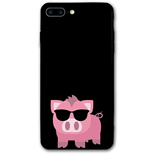 Cool Pink Sunglasses Pig Iphone 8 Plus Shell Full Protective Case 5.5 Inch Phone - With Pig Sunglasses
