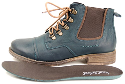 WoMen Ankle Blue Petrol Josef Red 09 kombi Seibel Boots 641 Sienna 7IwqB5