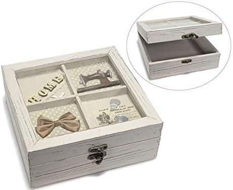 Idea Cajas para el te Caja de Costura, de Madera: Amazon.es: Hogar
