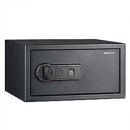 AmazonBasics Biometric Fingerprint Home Safe, 28 Liters