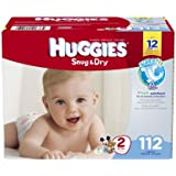 Huggies Snug and Dry Diapers, Size 2, 112 Count